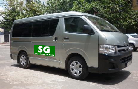 Toyota hiace for rent in Saigon