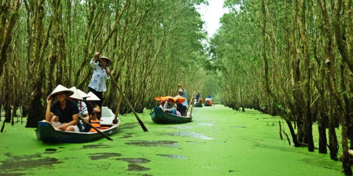 Mekong Delta tour Cai Be floating market and Tra Su sanctuary 2 days 1 night