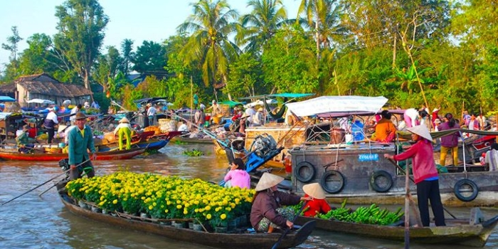 Cai Be Cu Lao Tan Phong floating market for 1 day